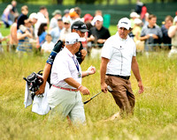 Phil Mickelson with Butch Harmon and Bones, US Open Bethpage